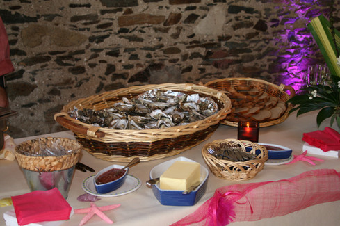 Buffet huîtres Port du collet 85