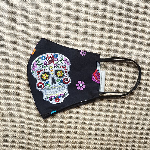 Face Mask Cotton Floral Day of the Dead