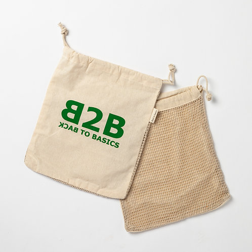 Cotton  & Net produce bag (set of 3)