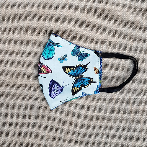 Face Mask Cotton Butterfly Reversible