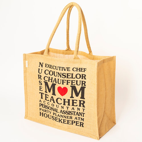 Natural Jute carry bag for M♥M