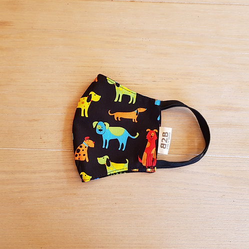 Face Mask Cotton Dog Print
