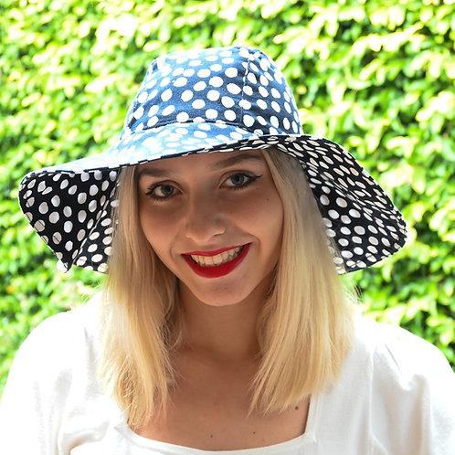 Black Polka Dots Hat
