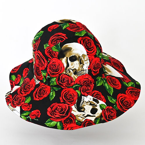 Roses and Skull Hat