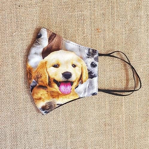 Face Mask Puppy Love Golden Retriever