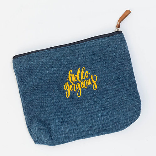 Hello Gorgeous Jute Pouch Bag
