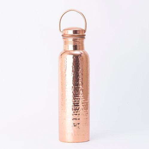 Copper Hammered Drink Bottle