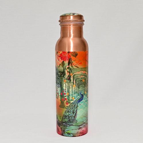 Copper Peacock Drink Bottle