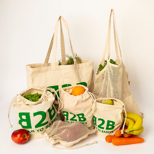 Zero Waste Shopping  Combo 6 Piece Set