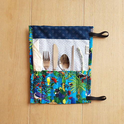 Zero Waste Native Birds Cutlery Pouch