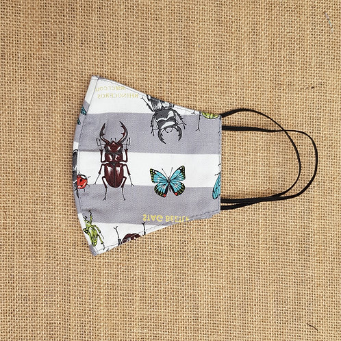 Face Mask Cotton Bugs n Beetles