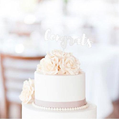 """Congrats Cake Topper - 8"""" x 3"""""""
