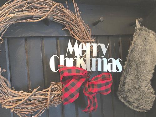 "Merry Christmas Decor - 10"" x 3.5"""
