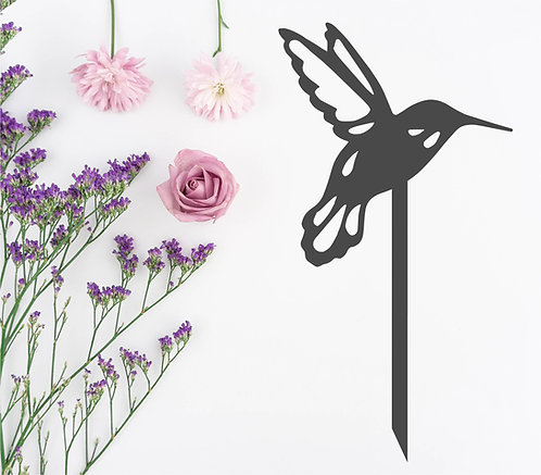 "Hummingbird Garden Stake - 8"" x 15"""