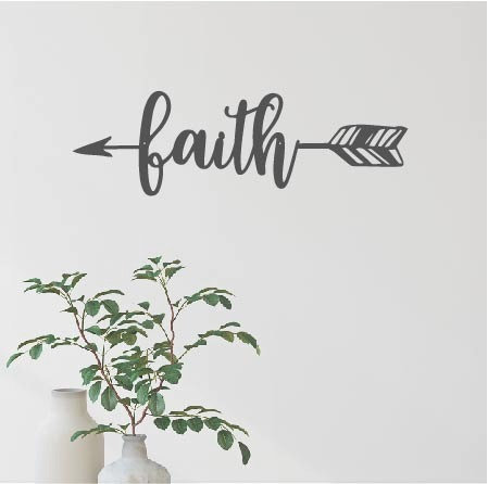 """Faith Arrow - 16"""" x 5"""""""