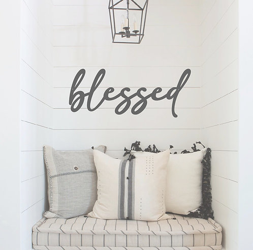 """Blessed - 20"""" x 8"""""""