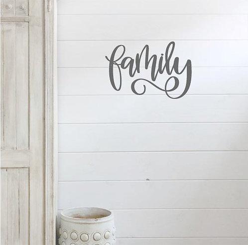 "Family - 15"" x 10"""