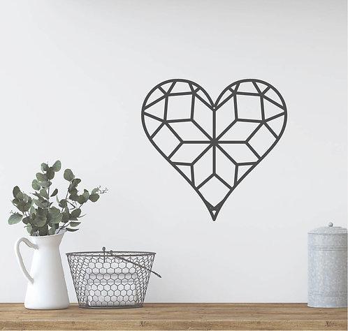 "Geometric Heart - 12"""