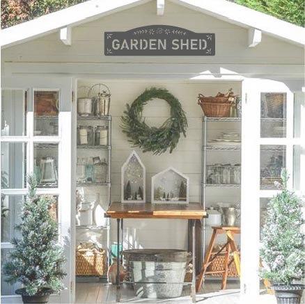 """Garden Shed - 24"""" x 7"""""""