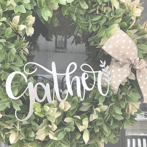 "Gather Wreath Decor - 10"" x 5"""