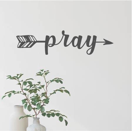 "Pray Arrow - 16"" x 4"""