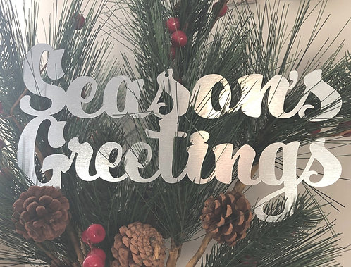 "Season's Greetings - 10"" x 3"""