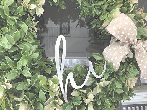 """Hi Wreath Decor - 6"""" x 7.5"""""""