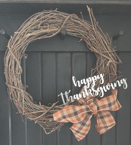 "Thanksgiving Wreath Decor - 10"" x 4"""