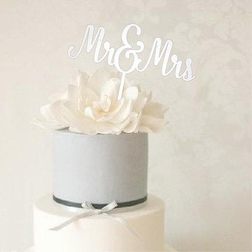 "Mr. & Mrs. Cake Topper - 8.5"" x 7"""