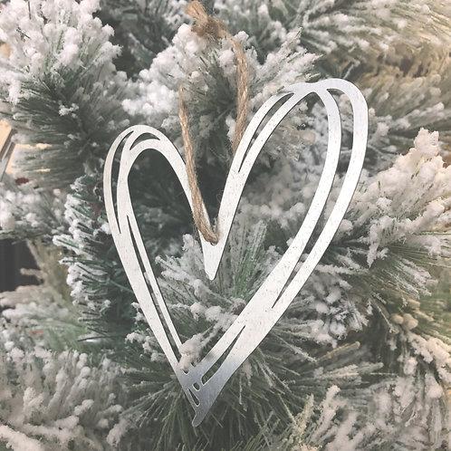 """Mini Hand Drawn Heart Ornaments - 4"""""""