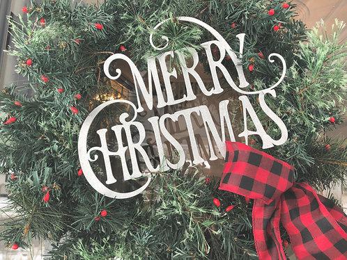 "Merry Christmas - 12"" x 8.5"""