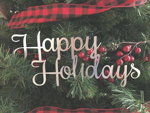 """Happy Holidays - 11"""" x 5"""""""