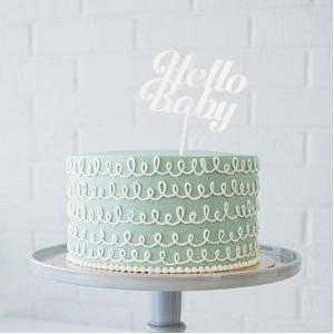 "Hello Baby Cake Topper - 8"" x 8.5"""