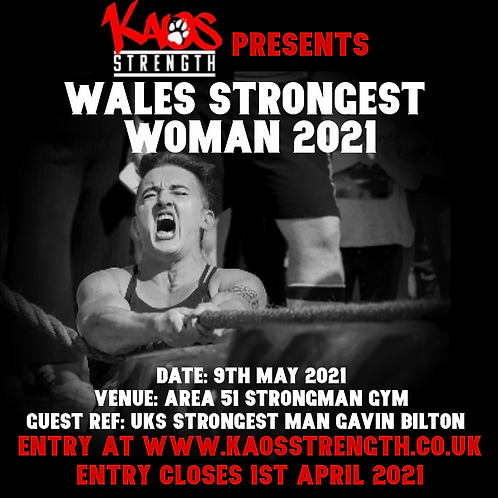 Wales Strongest Woman 2021 Entry