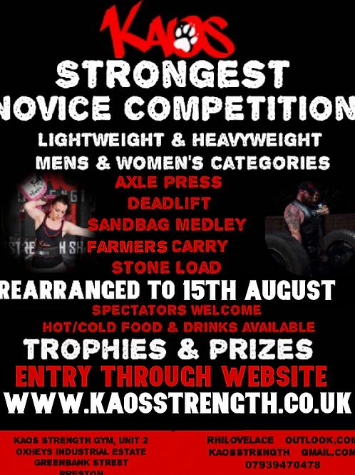 Kaos Strongest Novice  (Rescheduled)