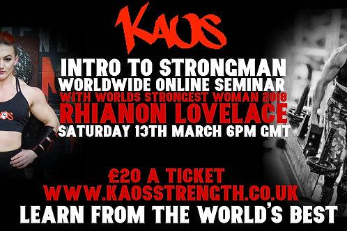 Strongman Seminar with Rhianon Lovelace