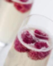 Champagne med Hindbær