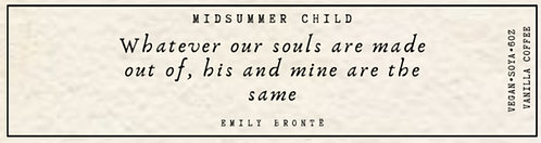 Emily Bronte Quote Candle