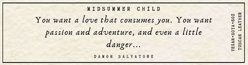 Damon Salvatore Quote Candle