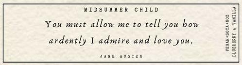 Jane Austen Quote Candle