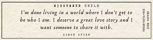 Simon Spier Quote Candle