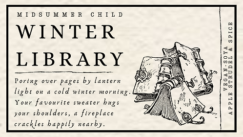 Winter Library Candle