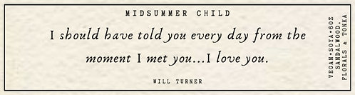 Will Turner Quote Candle