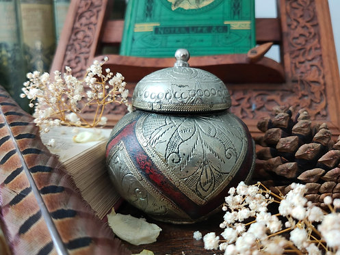 Silver and Wooden inlaid pot