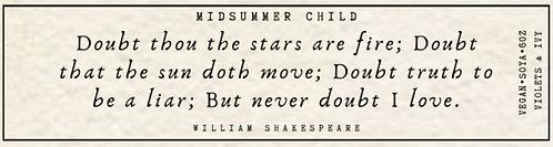 William Shakespeare Quote Candle