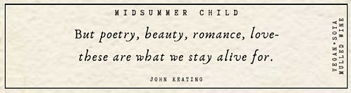 John Keating Quote Candle