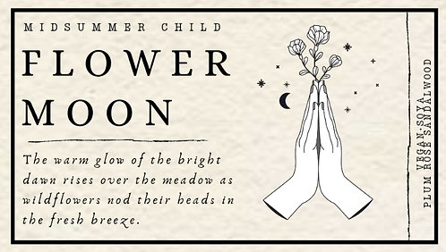 Flower Moon Candle