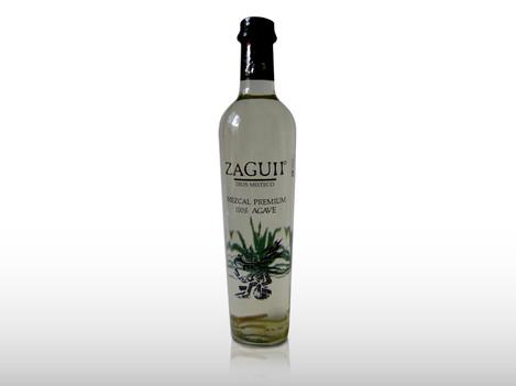 Diseño impreso en vinil transparente aplicado a la botella