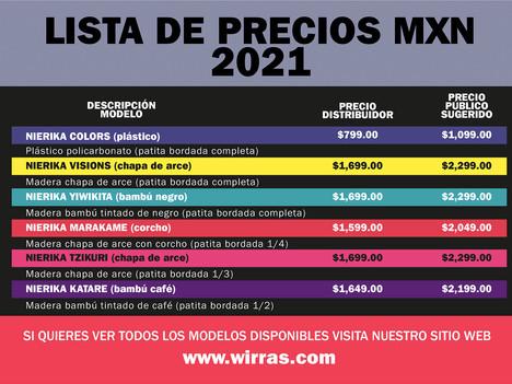 Precios 2021