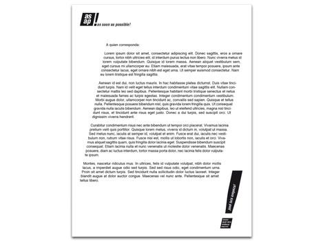 Hoja Membretada (Papel de Carta)